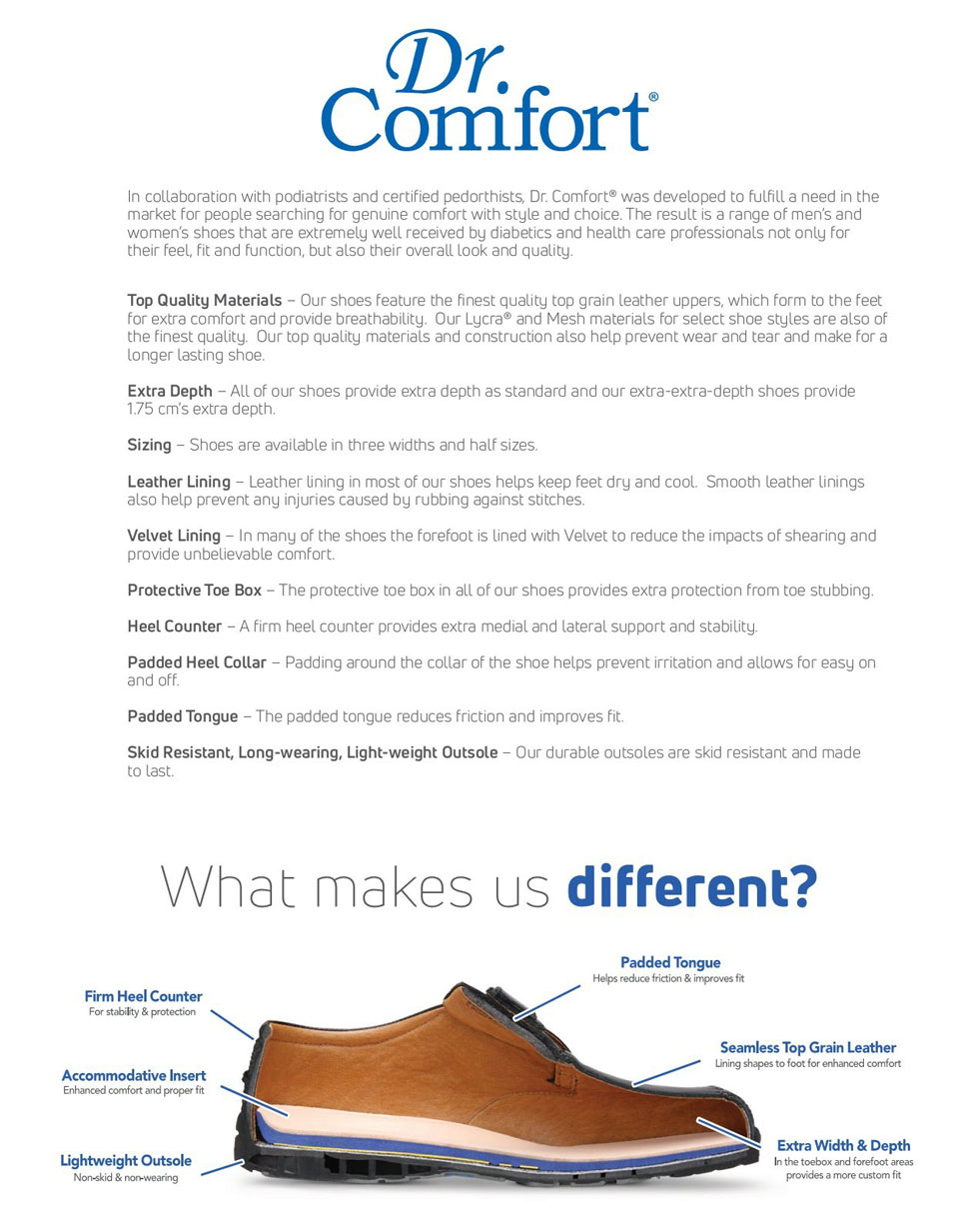 Dr Comfort Difference